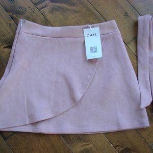 🌈3/$30 Zaful Blush Pink Faux Suede Mini Skirt NWT